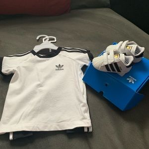 Adidas baby outfit && shoes